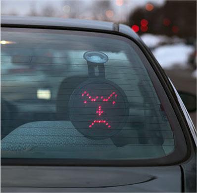 smiley lumineux voiture gadget