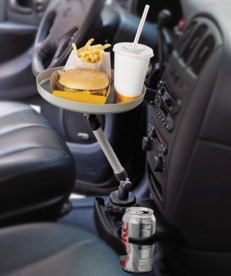 plateau manger voiture gadget